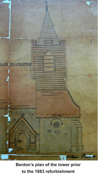 Benton's plan of the tower prior to the 1883 refurbishment