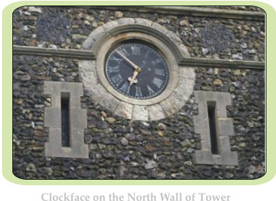 Clockface on the North Wall of Tower