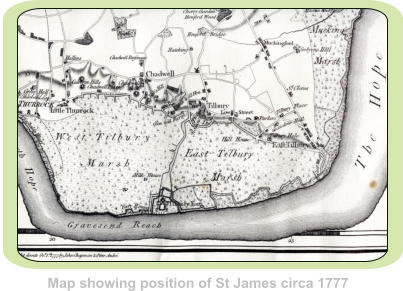 Map showing position of St James circa 1777