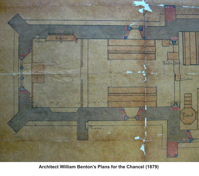 Architect William Benton's Plans for the Chancel (1879)