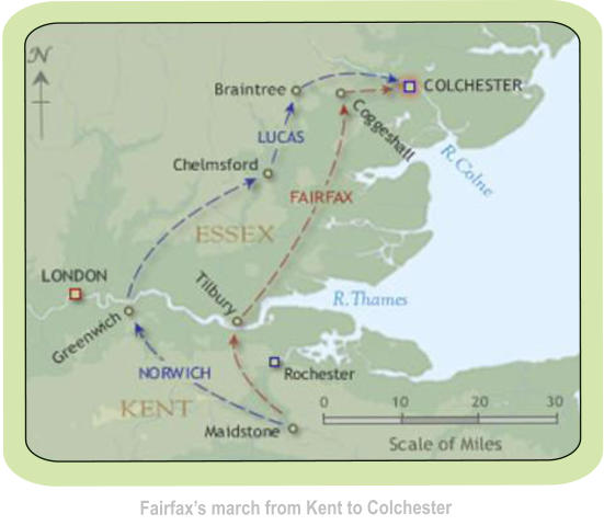 Fairfax's march from Kent to Colchester