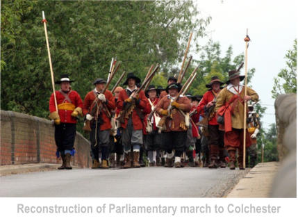 Reconstruction of Parliamentary march to Colchester