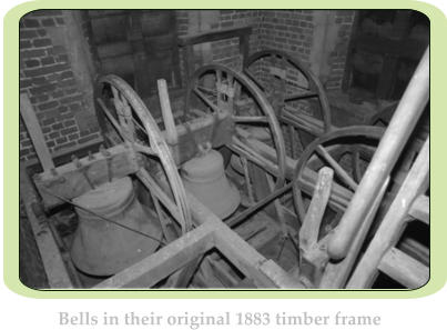 Bells in their original 1883 timber frame