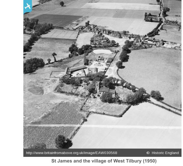 St James and the village of West Tilbury (1950)